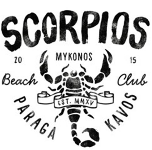 SCORPIOS 2015 MYKONOS Beach Club EST. MMXV PARAGA KAVOS