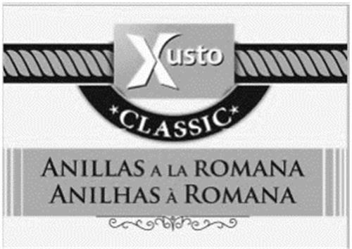 XUSTO CLASSIC ANILLAS A LA ROMANA ANILHAS A ROMANA