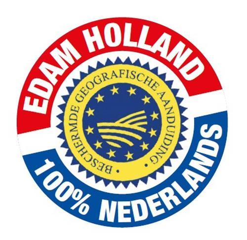 EDAM HOLLAND 100% NEDERLANDS BESCHERMDE GEOGRAFISCHE AANDUIDING