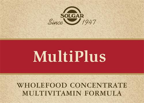 SOLGAR Since 1947 MultiPlus WHOLEFOOD CONCENTRATE MULTIVITAMIN FORMULA