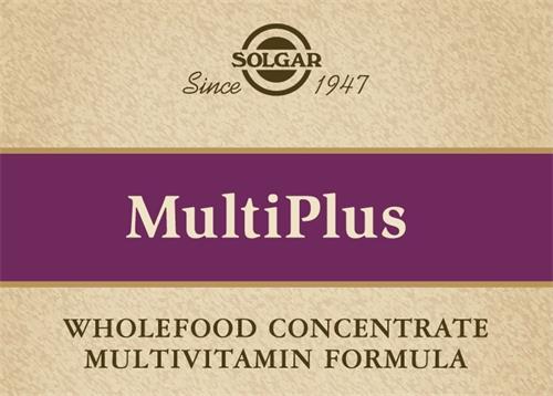 SOLGAR Since 1947 MultiPlus WHOLEFOOD CONCENTRATE MULTIVITAMIN FORMULA
