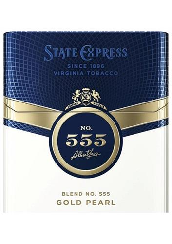 STATE EXPRESS SINCE 1896 VIRGINIA TOBACCO  NO. 555 Albert Levy BLEND NO. 555 GOLD PEARL