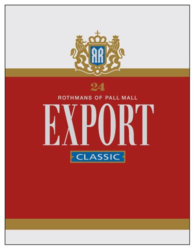 Rothmans of Pall Mall EXPORT CLASSIC