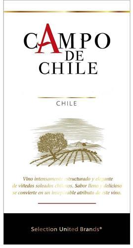 CAMPO DE CHILE CHILE Vino intensamente estructuado y elegante de vinedos soleados chilenos. Sabor lleno y delicioso se convierte en in inseparable atributo de este vino. Selection United Brands