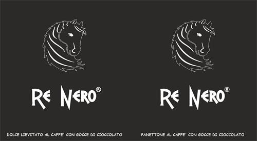 Re nero Panettone al caffè con gocce di cioccolato