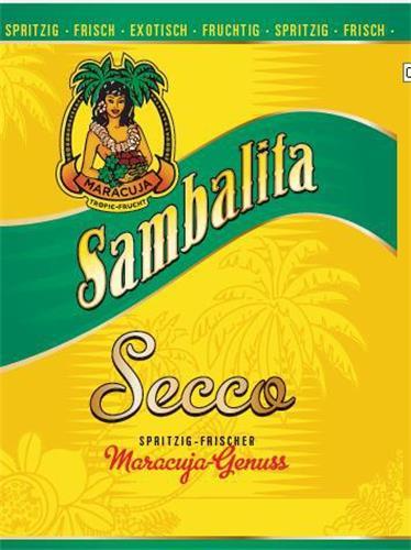 Sambalita Secco SPRITZIG FRISCHER Maracuja Genuss European Union Trademark Information