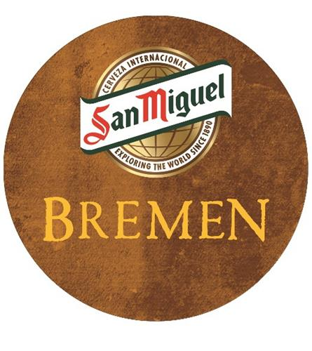 SAN MIGUEL BREMEN CERVEZA INTERNACIONAL EXPLORING THE WORLD SINCE 1890