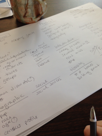 Step one of planning a data portal: Pen and paper.