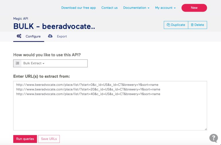 Tutorial: Web scraping and mapping breweries with import io