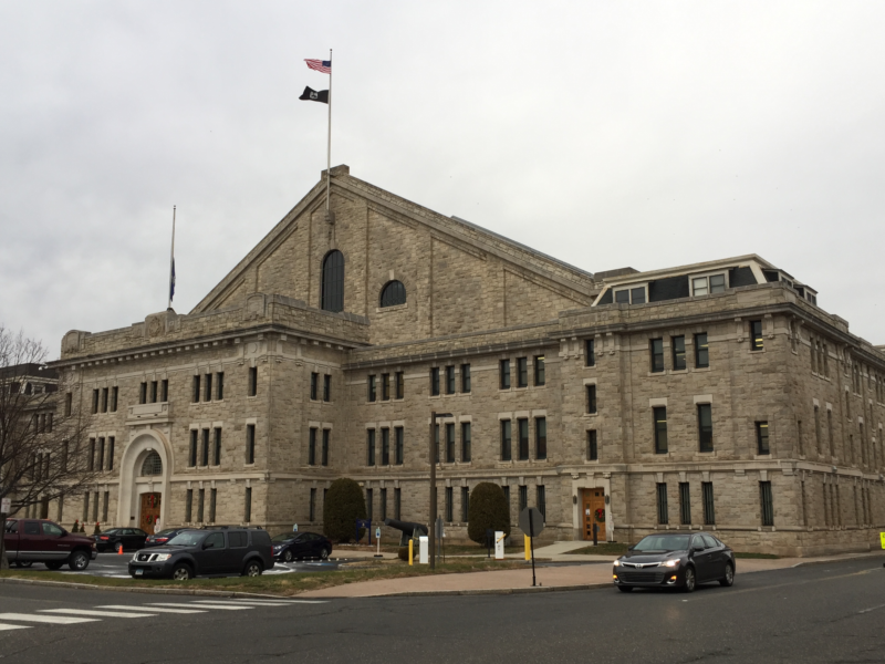 The Hartford State Armory off Broad Street in Hartford had the highest single measurement of lead on a surface in 2015 tests. —Jake Kara photo