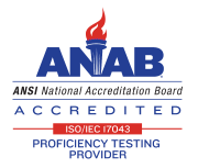 ANAB Accredited Proficiency Testing Provider