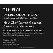 Ten Five hiring Line Cook - New Chef Driven Concept at Thompson Hollywood in Los Angeles, CA