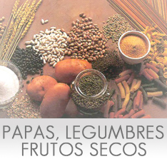 Carbohidratos de las Papas, Legumbres y Frutos Secos