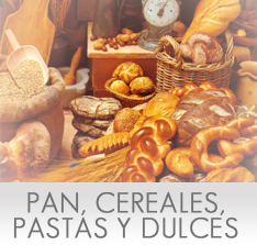 Calor�as del Pan, Cereales, Pastas y Dulces
