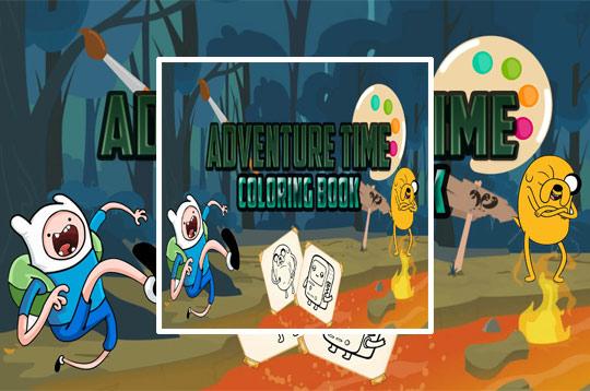 Adventure Time Coloring Book - Culga Games