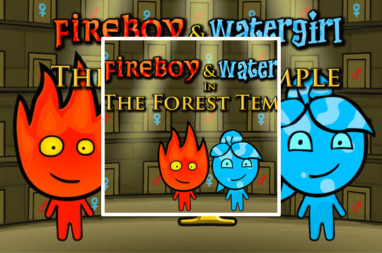 Fireboy and Watergil 1 Forest Temple