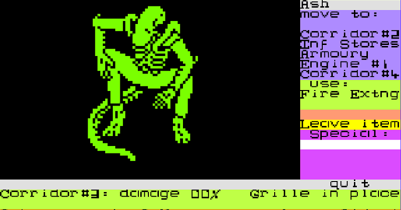 Alien c64 card