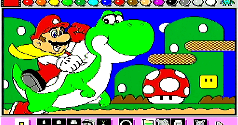 Mario paint card