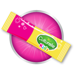 Yellow and Pink Culturelle® Kids Probiotic Packet