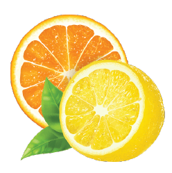 Orange and lemon