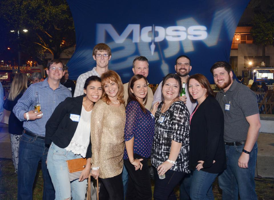 Employees enjoying the Moss New Year Kickoff Party
