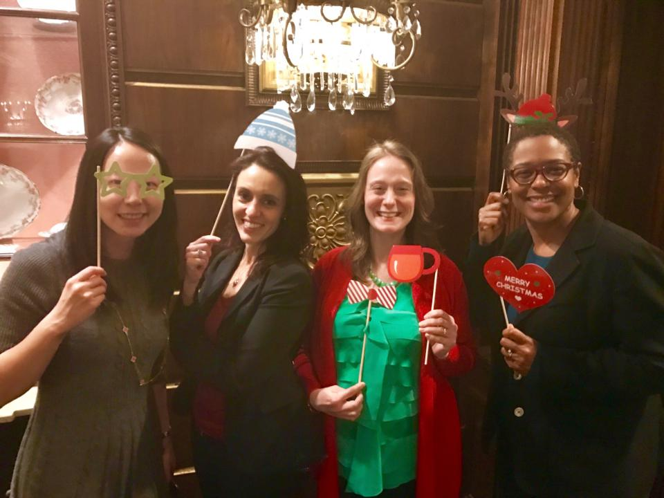 Employees at holiday party - December 2016.