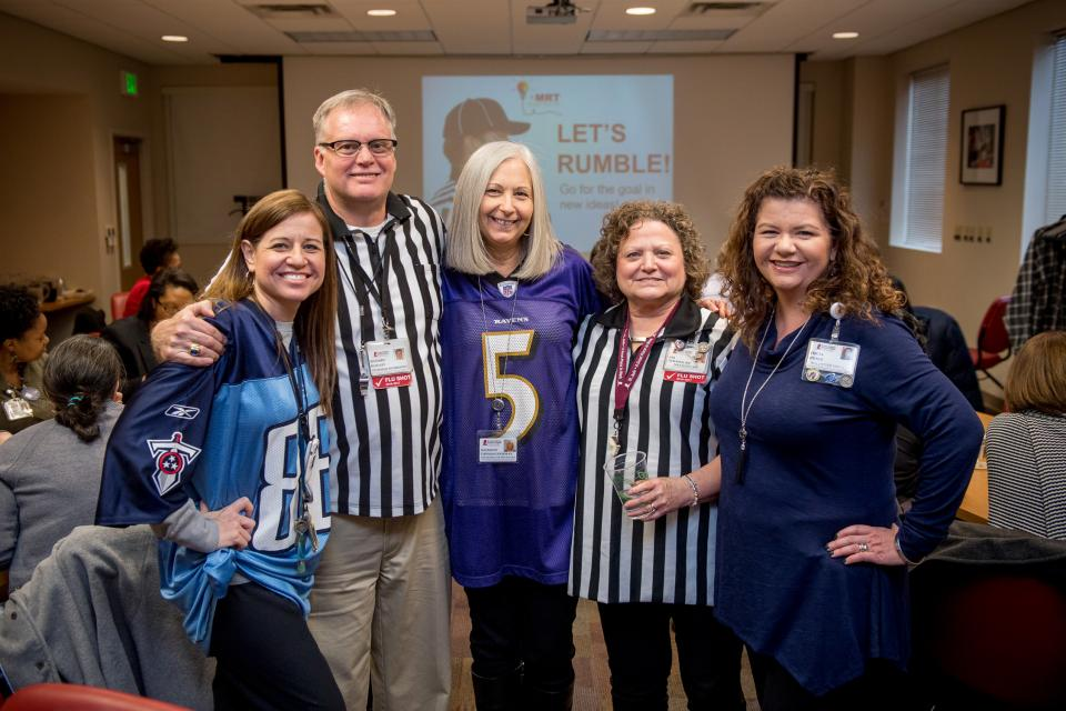 Managers Roundtable--a training and educational forum for mid-level leaders--celebrated the Super Bowl.