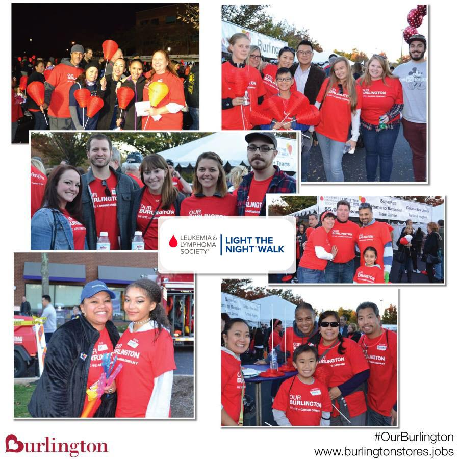 Burlington associates and their families support the annual Leukemia & Lymphoma Society's Light the Night Walk in Princeton, NJ.