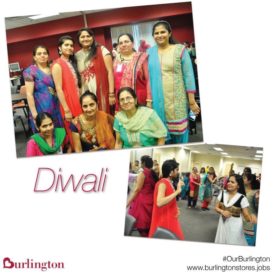 Associates in our Distribution Center celebrate Diwali, the Hindu festival of lights.