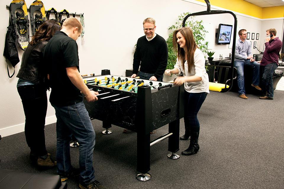 Foosball tournaments are one of our favorite activities.