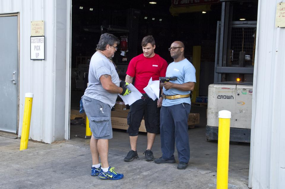Our Distribution Center Family Members prepping a customer order.