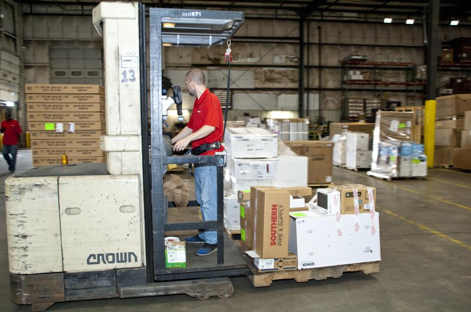Pulling orders at our 350,000 square-foot Distribution Center