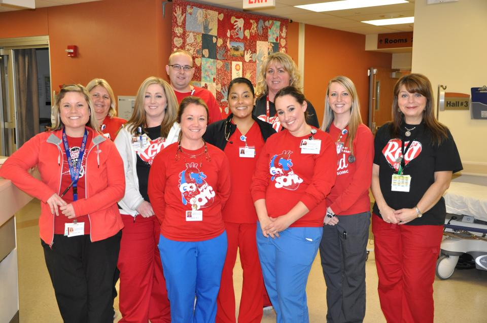 Emergency Department Goes Red for Heart