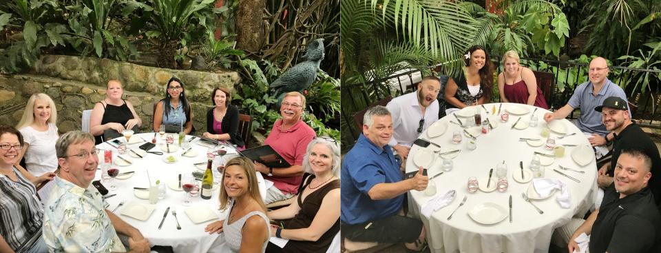Team dinner done right . . . Puerto Vallarta style!