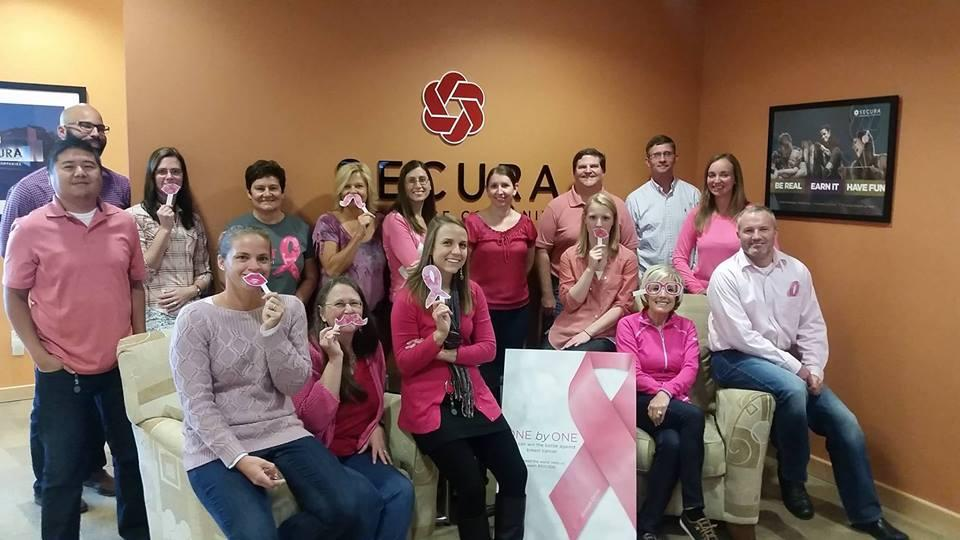 Our Middleton associates support SECURA's annual Breast Cancer Awareness event.