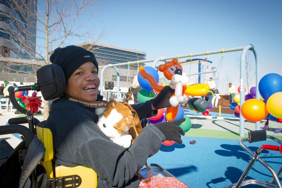 Liberty Mutual's Universally-accessible playground