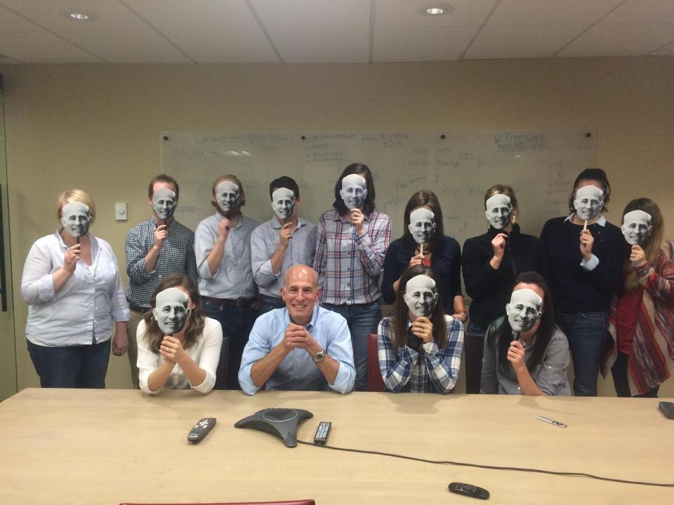 Halloween at CSG (dressed as our fearless leader, Steven!)