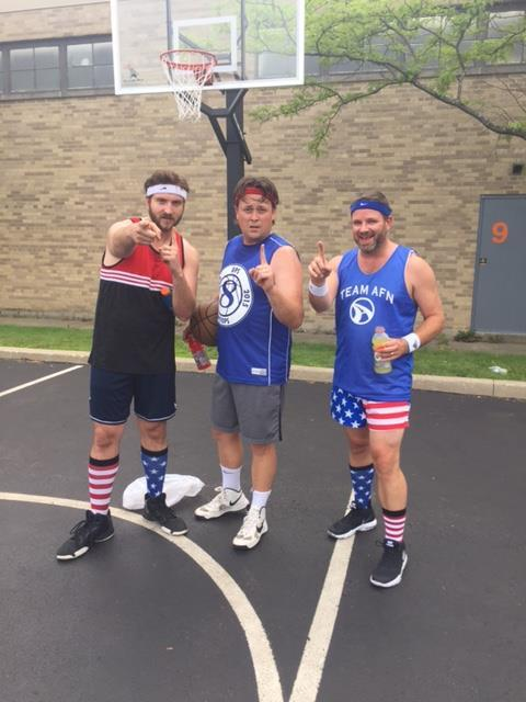 AFN team members competing in the annual 3 on 3 basketball tournament