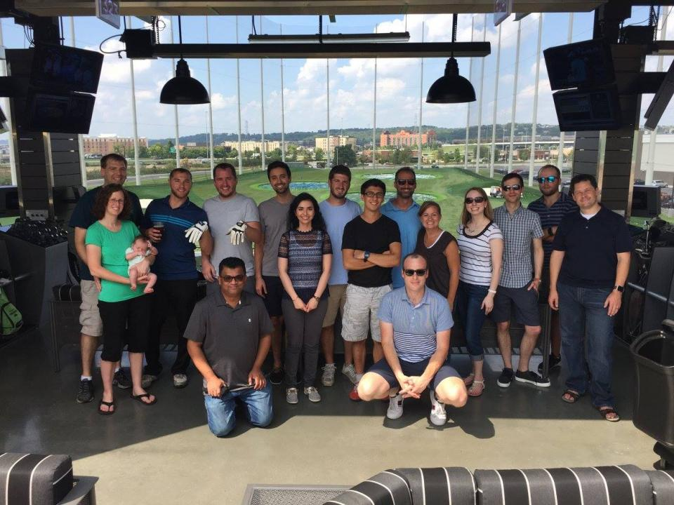 Top Golf with the entire InfoTrust group