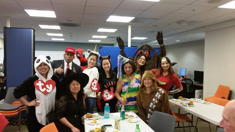 Netskope employees celebrating Halloween