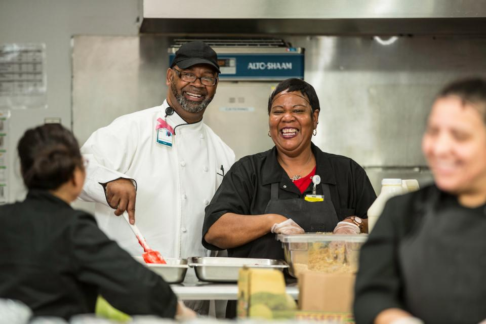 Food services employees at Memorial