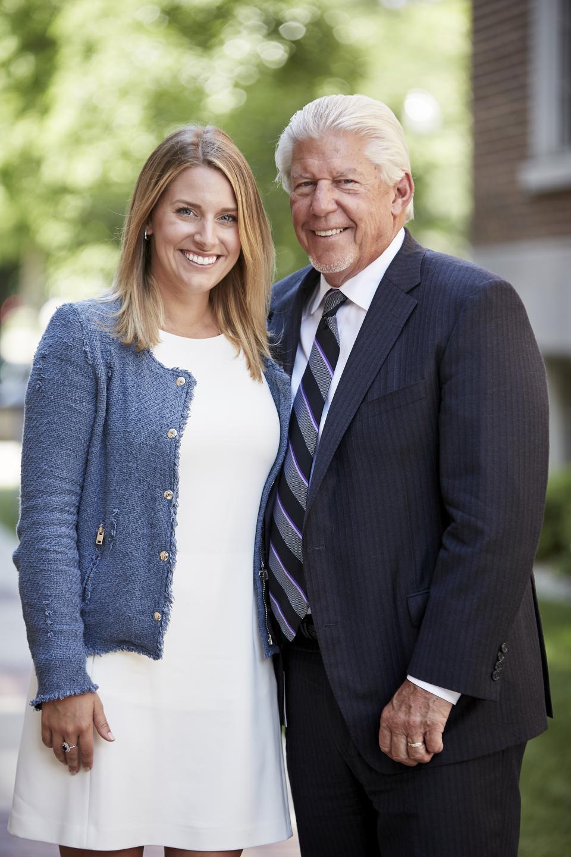 William D. Johnston (founder) with daughter and Greenleaf Trust team member, Anne Henn