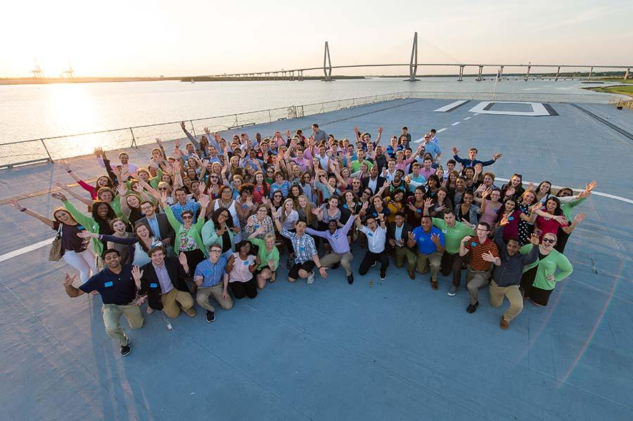 Dinner and dancing aboard the USS Yorktown is part of the fun of DHG's Annual Summer Leadership Conference