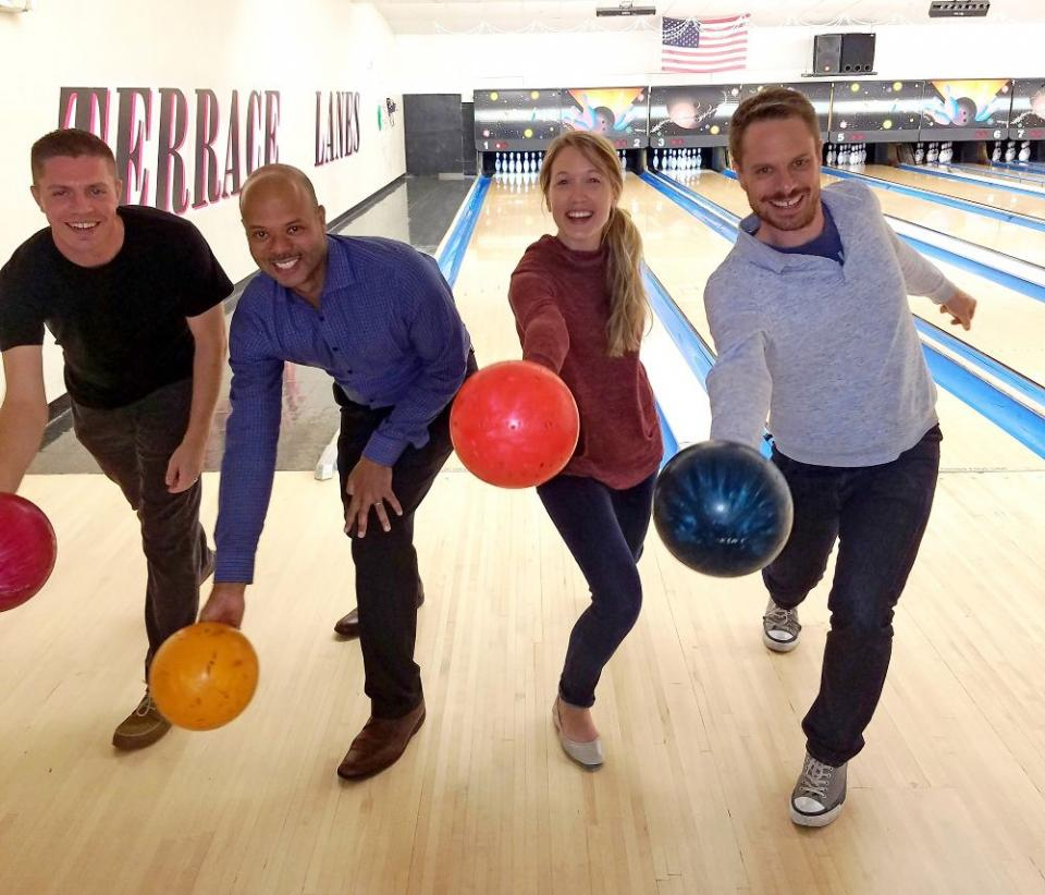 Bowling Champs for Charity Event