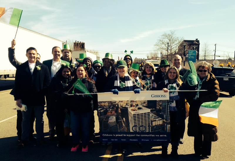 Gibbons employees enjoy supporting local events, including the Annual Newark St. Patrick's Day parade.