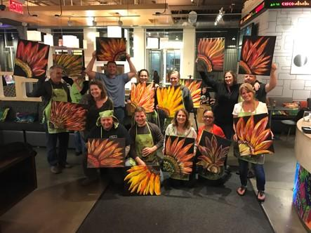 Chesapeake office staff members get creative with their team-building event.