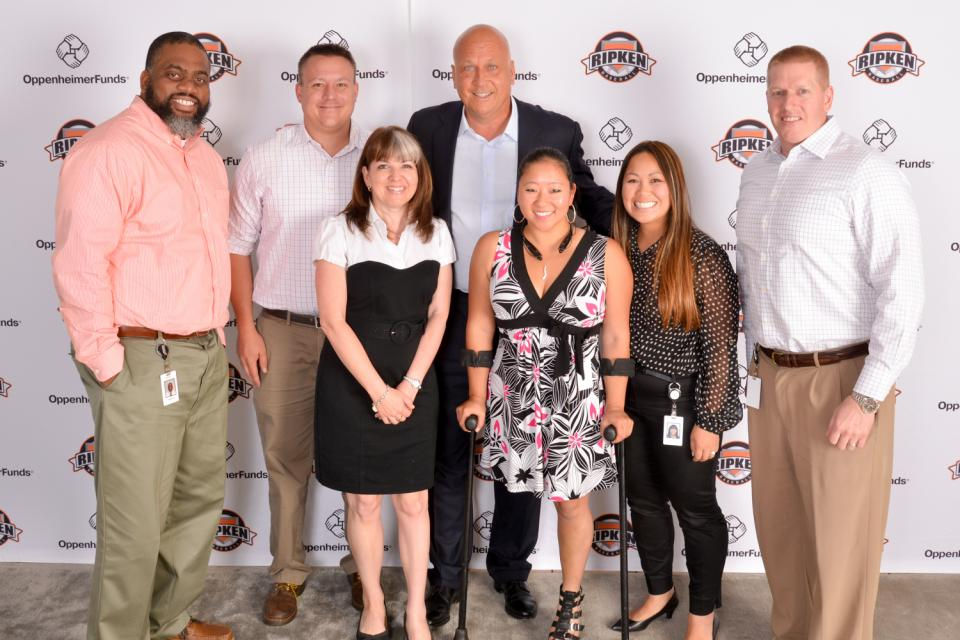 Employees get to experience unique, one-of-a-kind opportunities at OppenheimerFunds as a thank you for their hard work. At our town halls held last year, employees got to meet and have their photo taken with baseball legend Cal Ripken Jr.