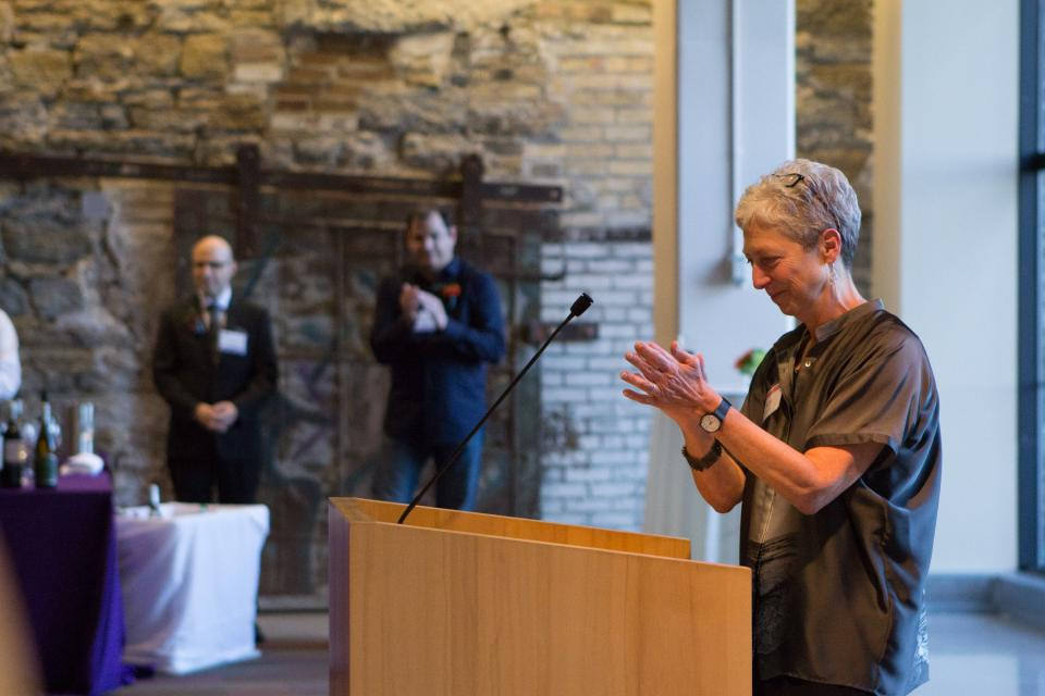 Kate Wolford, President at 2015 Art Fellowship Reception
