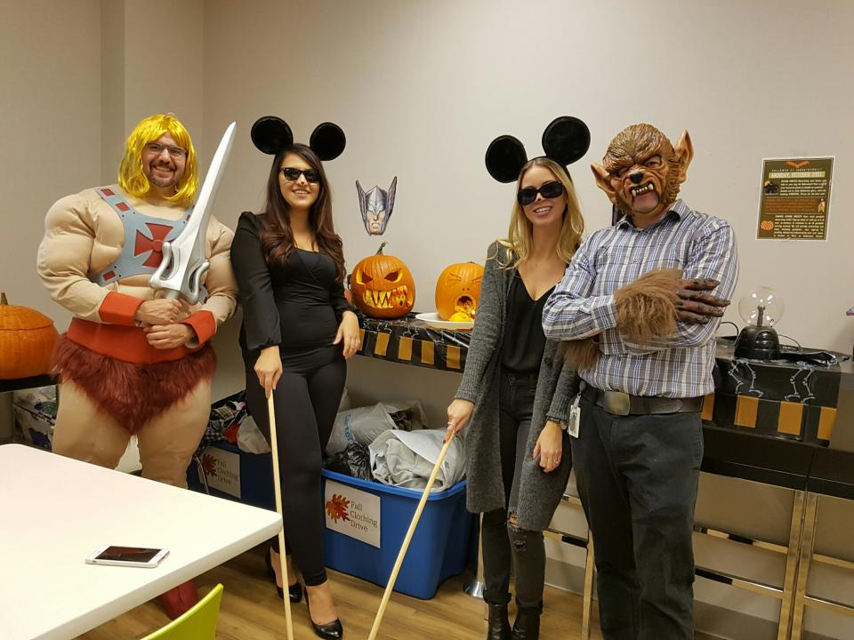 Hallowe'en fun at IB where we employees are encouraged to dress up and participate in a pumkin carving contest and some spooky fun!