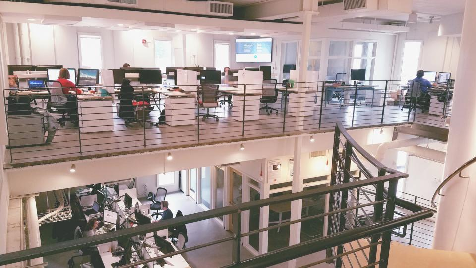 Modern and raw collaborative space